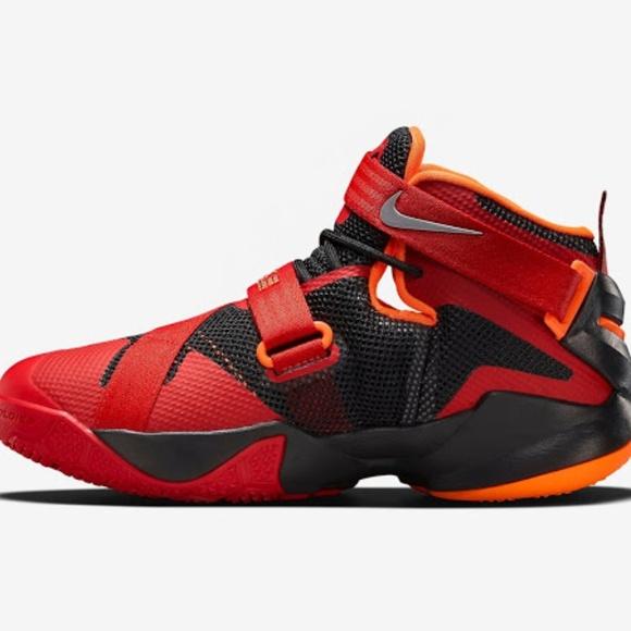 the latest 8053d 6f6e6 Nike LeBron Soldier 9 Black Red-Orange-Preloved. Nike.  M 5ab335fad39ca2ae4390c700. M 5ab335fa739d48de9e3d9bd9.  M 5ab335fb9cc7efac1deb1de9